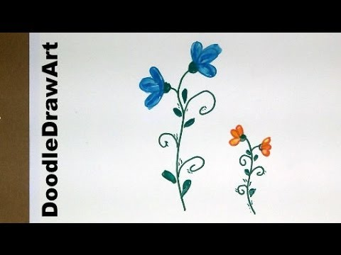 Drawing how to draw flowers step by step easy cartoon posies easy for kids or beginners