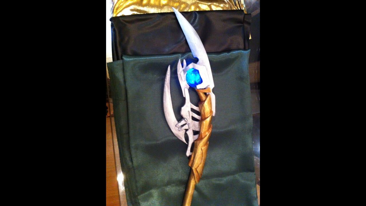 Loki scepter  DIY como fazer cetro Loki  YouTube