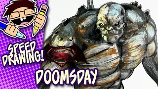 Speed Drawing DOOMSDAY (BATMAN v SUPERMAN: DAWN OF JUSTICE)