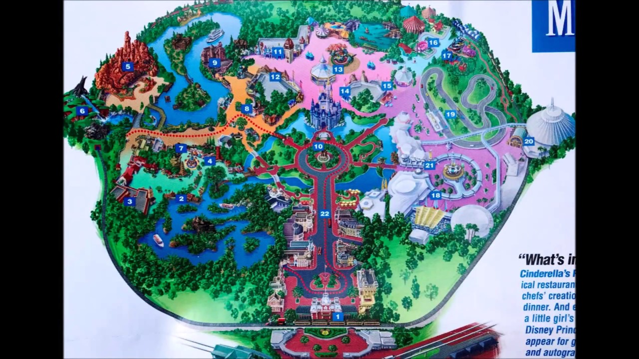 WDW Magic Kingdom Maps Over the years! - YouTube