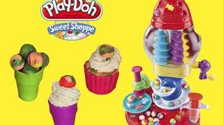 Play Doh Ice Cream  Gumball machine + cupcakes maker - Playdough Sweet Shoppe Playset