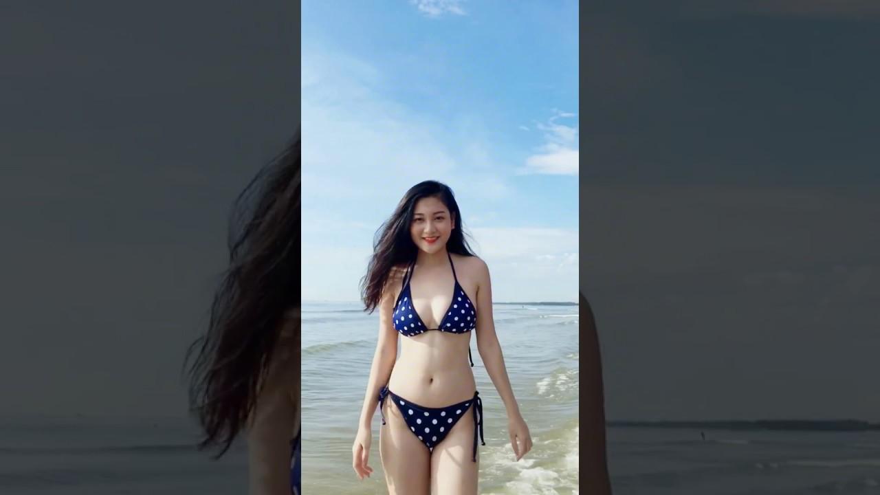 Đốn tim ngay phút đầu tiên...Hot girl bikini Thanh Huyền