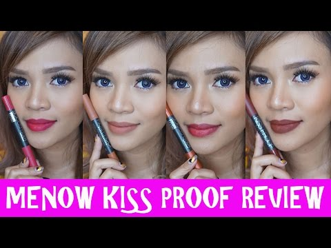 Menow Kiss Proof Lipstick Review - Bahasa