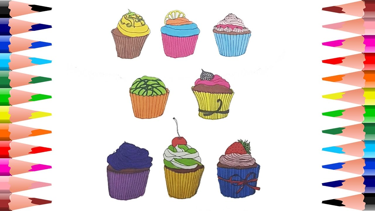 coloring cupcakes how to paint cupcake coloring pages for kids