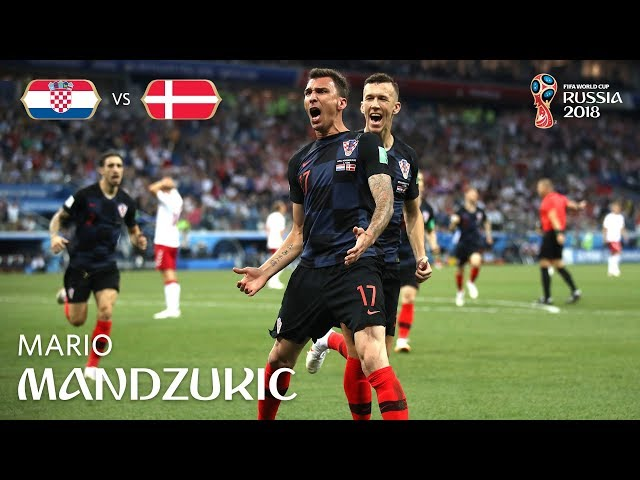 Mario MANDZUKIC Goal  - Croatia v Denmark - MATCH 52