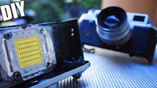Extreme LED Torch inside Old Camera ☄  500W POWER TUTORIAL