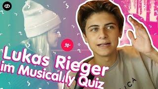 Lukas Rieger im musical.ly-Quiz | Erkennt er seine EIGENEN Songs?!
