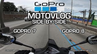 GoPro Hero 7 vs. GoPro Hero 8 - MotoVlogging Side by Side Comparison