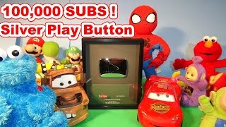 Pixar Cars and Thomas and Friends Fan Unbox the 100,000 Subs Silver Play Button Award !