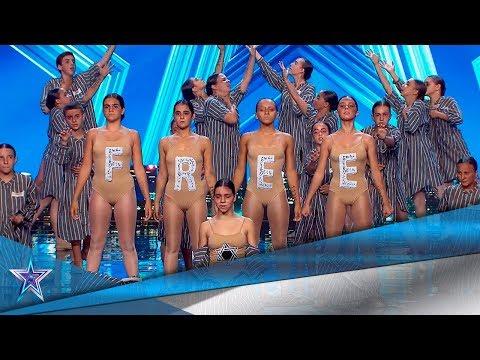 Recuerdan a las VÍCTIMAS del HOLOCAUSTO NAZI BAILANDO   Audiciones 10   Got Talent España 5 (2019)