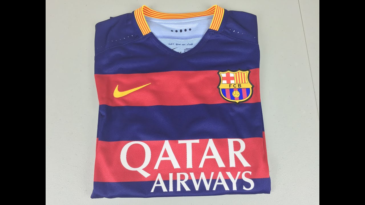 814bdbf52 2015 2016 Authentic FC Barcelona Home Jersey - Unboxing and Review (4K)
