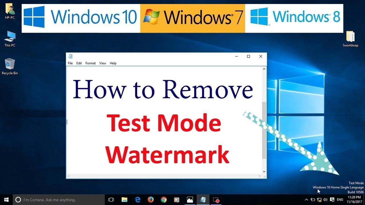windows 10 remove watermark test mode