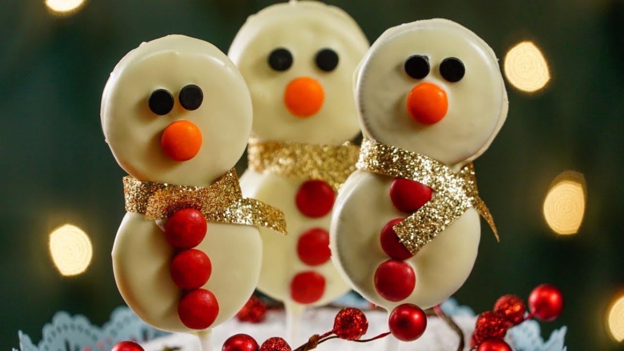 Paletas de muñeco de nieve