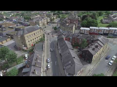 Batley Town & Shopping Areas By Quadcopter in 4K