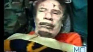Qadafi is dead. french air strike hit his convoy, salafies captured him, then killed him part 2