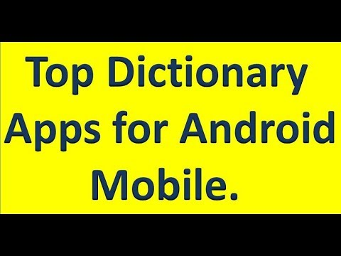 Top #Dictionary Apps For #Android Mobile, English To Hindi To English ||  By Technology Up
