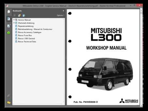 mitsubishi l300 repair manual pdf