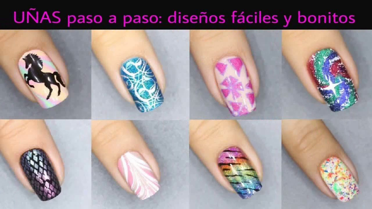 Uñas Decoradas En Violeta Faciles Y Bonitas Youtube