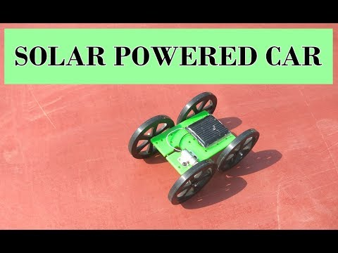 Solar powered toy car assembly process