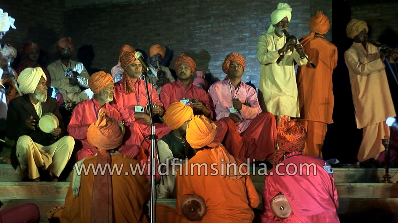 Snake charmers mass together for a rare musical performance