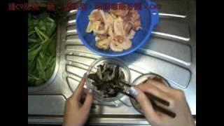 『鍾C9亂煮一通』之 冬菇臘腸蒸雞 (廣東話)