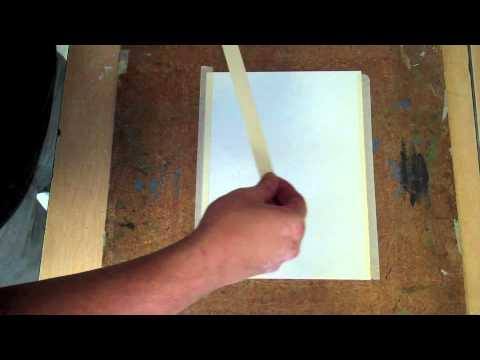 Watercolor Paper Mounting