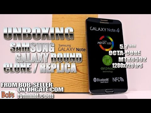 """How to spot a Samsung Galaxy Round fake [HANDS-ON & UNBOXING] 5.7"""", MTK6592, 1280x720 HD"""