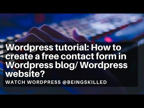 Wordpress tutorial: How to create a free contact form in Wordpress blog/ Wordpress website? thumbnail