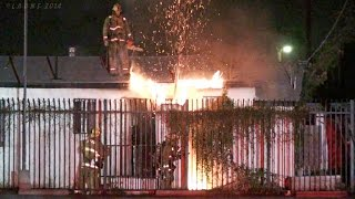 Lafd / Exterior Small House Fire