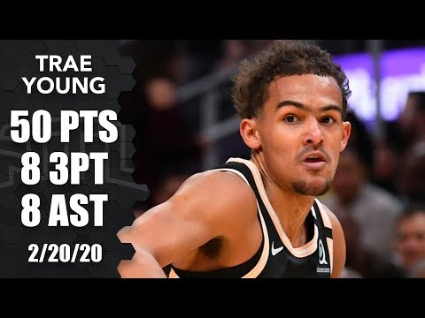 Trae Young goes off for career-high 50 points in Hawks vs. Heat | 2019-20 NBA Highlights