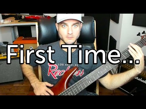 Playing Bass Guitar for the First Time...