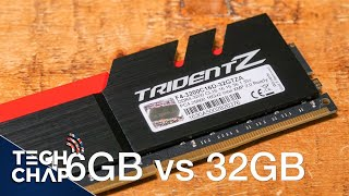 16GB vs 32GB RAM - Gaming & Rendering