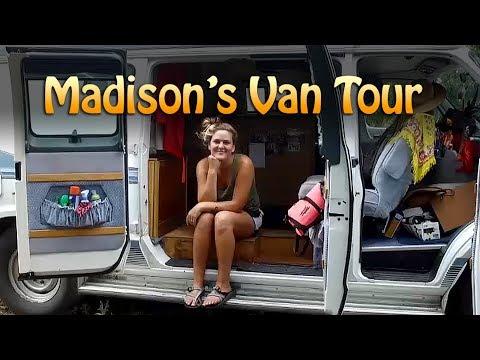 VAN TOUR w/ SOLO FEMALE TRAVELER Madison -- #vanlife