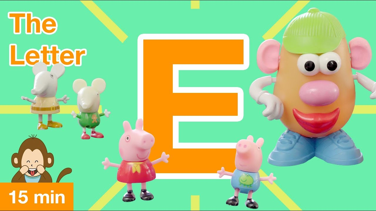 Learning videos for toddlers: Peppa and George are learning all about the Letter E! (2019) 4K