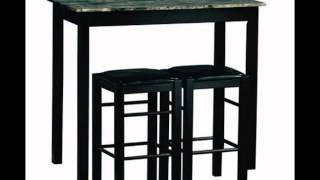 3 Piece Bistro Set Counter Height Kitchen Dining Pub Bar Table Chairs Stool New