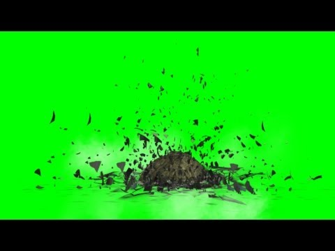 Meteor impact effects on green screen  - free green screen thumbnail