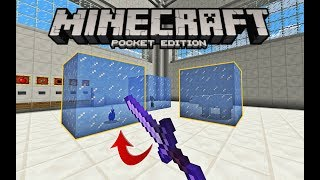 MCPE How to FREEZE MOBS using magic sword in Minecraft 1.3! Command block trick