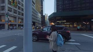 3D VR 180, New York City,  Manhattan, Lexington Ave, 50th to 51st, right side walking tour