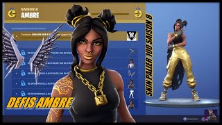 "FORTNITE: NEW DEFIS AMBRE SKIN PALIER 100 READABLE FREE! ""Surviving opponents"""