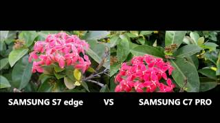 Samsung C7 Pro vs s7 edge camera test