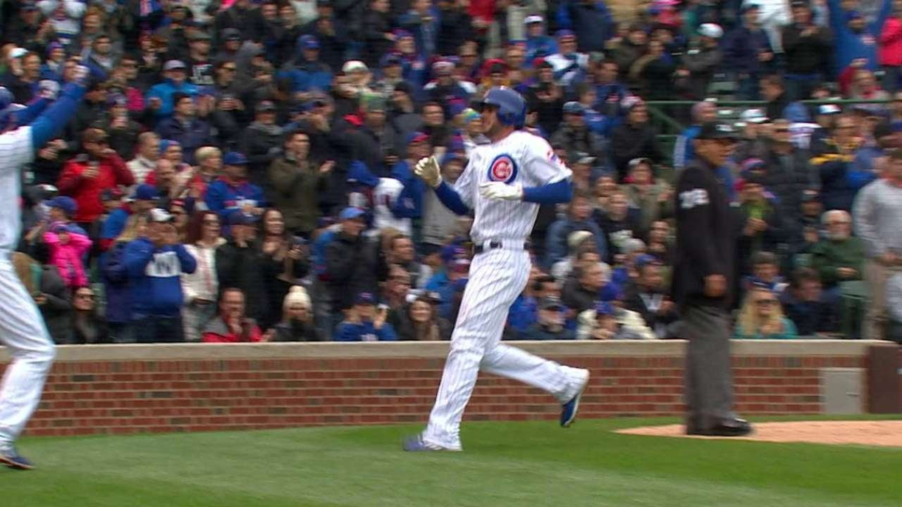 Cubs' Bryant leaves with injury against Nationals