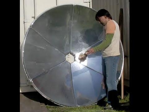 "DIY SOLAR COOKER 70"" SOLAR SATELLITE DISH DIY NATURAL Solar Dog Food"