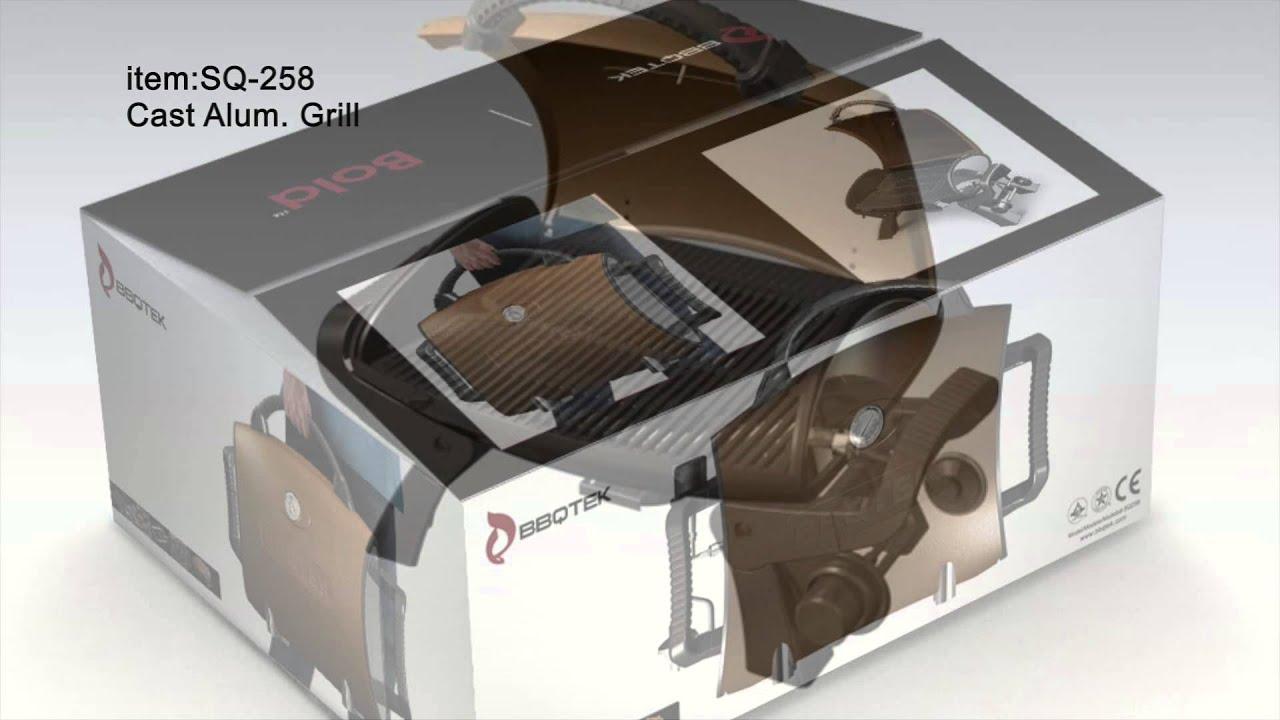 BBQTEK SQ 258 Portable Table Top Gas Grill