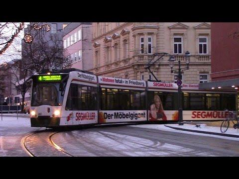 Augsburg Straßenbahn Trams in Augsburg Route 4 Hauptbahnhof ⇒ Oberhausen Nord P+R