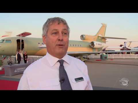 Dassault test pilot, Hervé Laverne, talks about the new Falcon 8X!