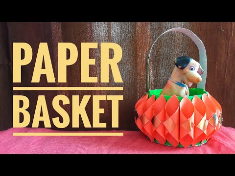 How to make paper basket at home | DIY paper basket for gift | paper craft | Miss Tiara | Miss Tiara