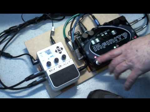 infinity looper. beatbuddy \u0026 pigtronix infinity synchronisation demo française looper