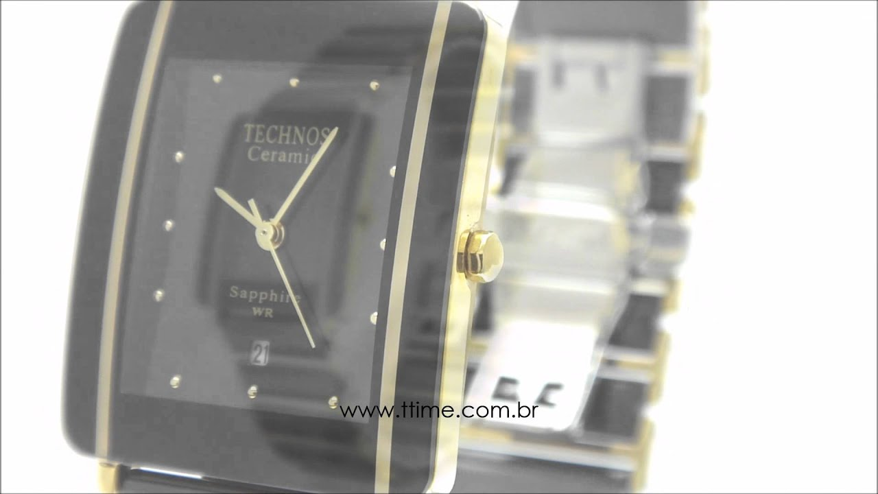 Relógio Technos Ceramic Sapphire GN10AA 4P - YouTube 6788478cd9