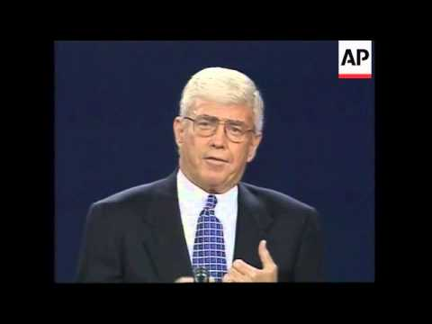 USA: FLORIDA: VICE PRESIDENT DEBATE BETWEEN AL GORE AND JACK KEMP