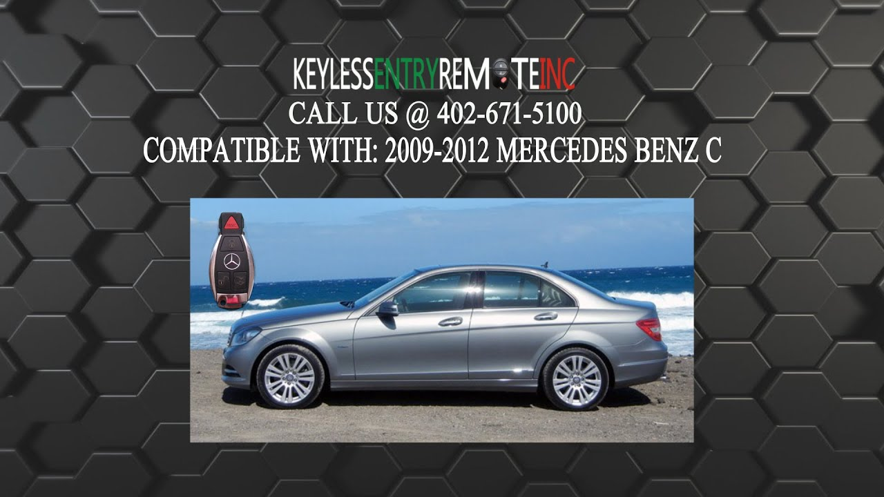 How To Replace Mercedes C Class Key Fob Battery 2009 2010 ...